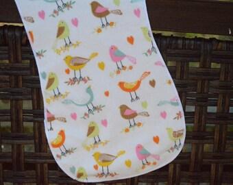 song  birds Burp Cloth