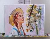 """Anne of Anne of Green Gables - ORIGINAL Painting 8x10"""" on Canvas"""