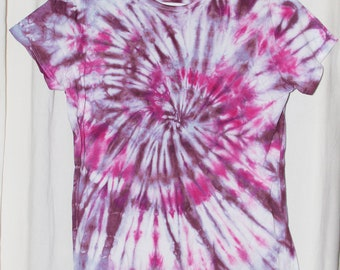 Tie Dye Shirt -X Large-Junior - Short Sleeve - Pink and Maroon