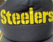 Vintage Pittsburgh Steelers Hat Snapback Cap  Black and Gold Hat