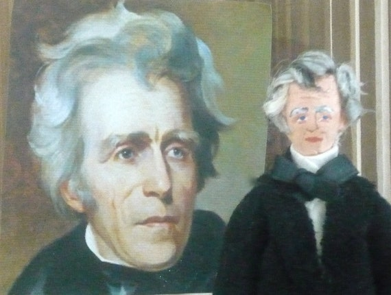Doll Miniature Andrew Jackson Presidential Art Character