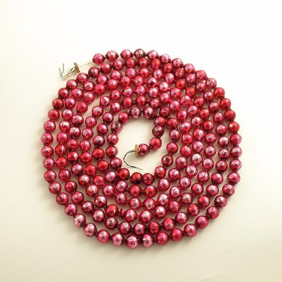 Vintage glass bead garland christmas tree