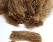 Alpaca Fleece - 4 ounces Light Brown