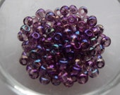6/0 Seed Bead Translucent Light Amethyst Purple AB, 4mm, Czech, Preciosa, 20 grams (270-300 beads/pack) *CLEARANCE*