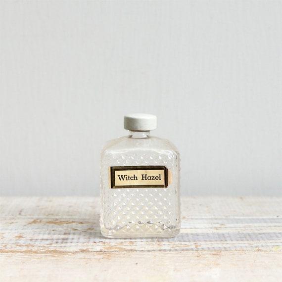 Antique Witch Hazel Medicine Bottle / Halloween Decor, Apothecary, Vase