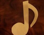 Unfinished Mdf Music Note Mosaic Base/Craft Shape
