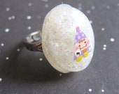 Fat Happy Elf Resin Ring