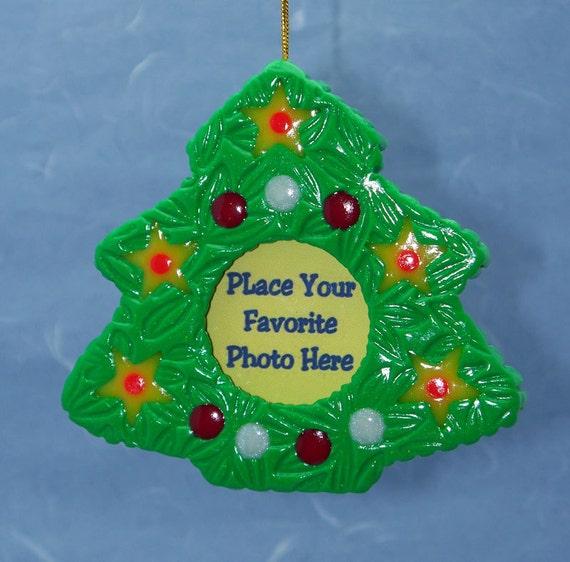 Christmas Tree Ornaments Etsy: Items Similar To Christmas Tree Ornament Photo Holder