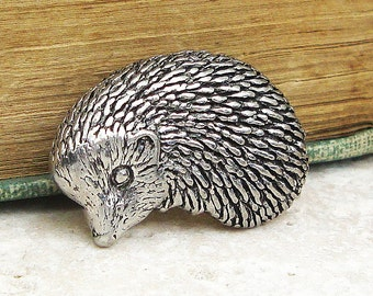 Hedgehog Tie Pin. Antiqued Pewter Tie Tack Pin
