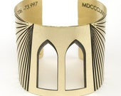 Gold cuff bracelet - Brooklyn Bridge inspired - geometric