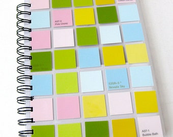 Notebook & Sketchbook // Color Block  // Collage Art Journal // Pastels // Pink Green Yellow Blue