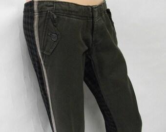 Split Skinny Olive Pants