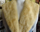 Huge Creamy Mink Collar