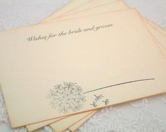 Wedding Cards Guest Book Alternative Vintage Dandelion Set of 10