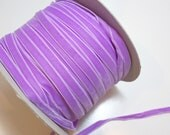 Purple Ribbon, Lilac Purple Velvet Ribbon 3/8 inch wide x 3 yards, Made in Switzerland