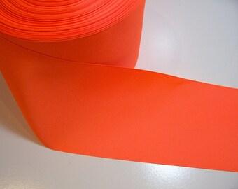 Wide Orange Ribbon, Neon Orange Grosgrain Ribbon 4 1/4 inches wide x 3 yards