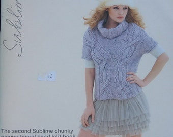 Sublime Chunky Merino Tweed Hand Knit Book