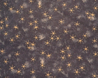 Cotton Calico Fabric Blue Snowflake Hill 1 Yard Destash
