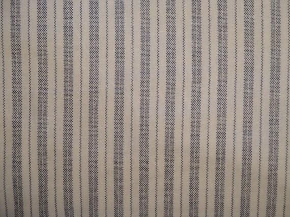 Blue Ticking Calico Cotton Fabric 1 Yard - Craft Quality