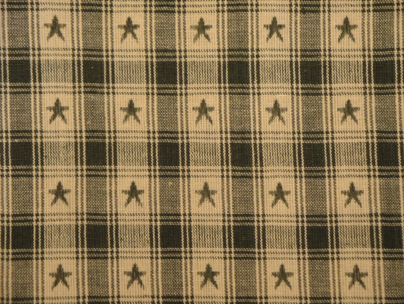 Country Cupboard Jacquard Green Star Plaid 1 Yard