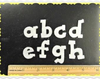"""Die cut 1.25"""" DJ Cheer  alphabet craft felt your color choice"""