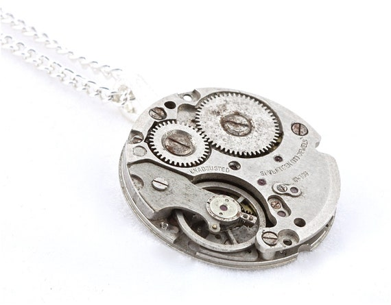 Steampunk Pendant with 18 Inch Chain