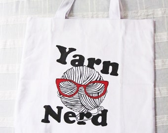 Yarn Nerd Knitting or Crochet Project Bag