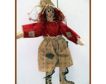 Crowin Mike Primitive Scarecrow Ornament