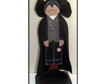 Count Dracula Halloween Woodcraft Decoration