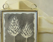 spring sale - grey trees ornament