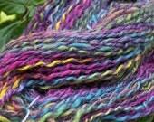 Alpaca/Wool Handspun Yarn Rainbow of Colors, Handmade in the Adirondacks