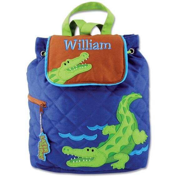 children backpack personalized alligator stephen by parsik93. Black Bedroom Furniture Sets. Home Design Ideas