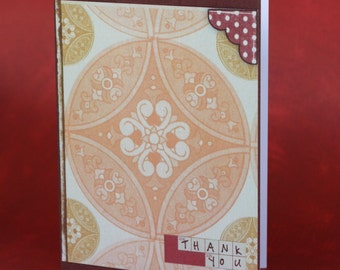 Autumn Patterned Thank You Card