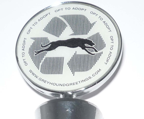 SueBero's OPT TO ADOPT Greyhound  Dog Wine Bottle Stopper Whippet