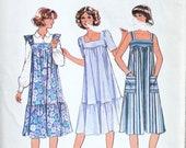 UNCUT Dress or OverDress Bust 32.5 Vintage Sewing Pattern