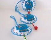 Christmas Decoration Blue Angel Felt Hanging Ornament