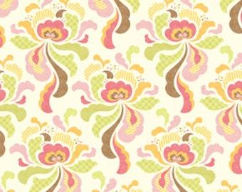 Heather Bailey Freshcut Groovy Brown Flannel Fabric, 1 Yard