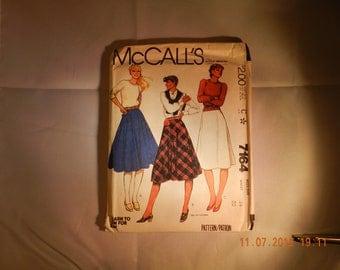 Skirt Pattern Miss Size 14 Waist 28 Three Variations Pattern by McCalls No 7164 Uncut Year 1980