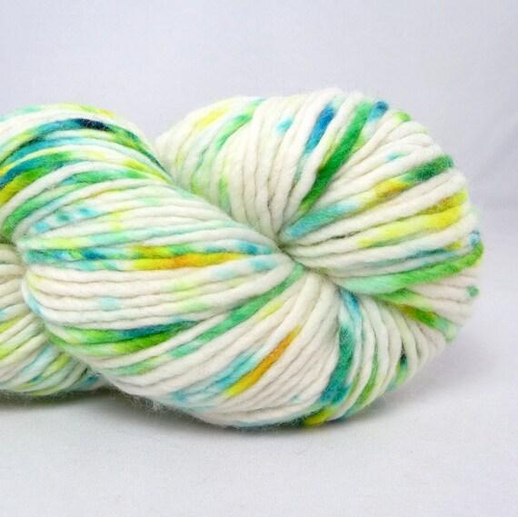 Hand Dyed Worsted Merino Single Yarn-  Sierra Mist