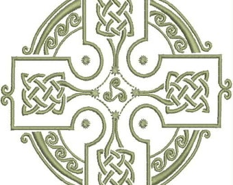 Celtic Cross Embroidery Design
