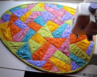 PDF Pattern Crazy Quilted Easter Egg Table Runner from Quilts by Elena