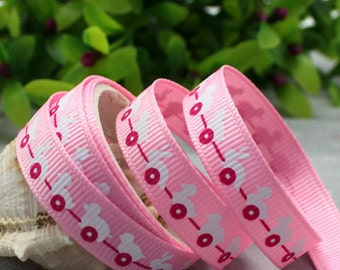 9mm x 5yards (toy cart) grosgrain ribbon (S583)