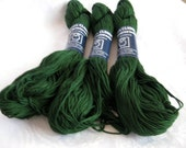 100% cotton yarn, dark forest green, Takhi Stacy Charles Cotton Classic yarn, worsted weight