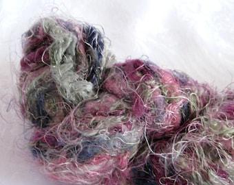 Ironstone Fireworks yarn, super bulky weight yarn, purple mauve grey shades, arm knitting yarn