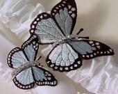 wedding garter  set Winged  Butterfly Bridal garters