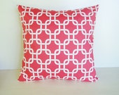 Coral Pillow Covers Nautical Pillow 8 Sizes Available Decorative Pillow Cushion Cover Beach Decor