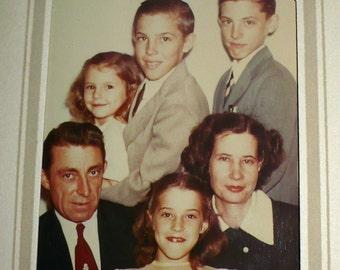 Hollywood Family - 1960s Telecolor Photo