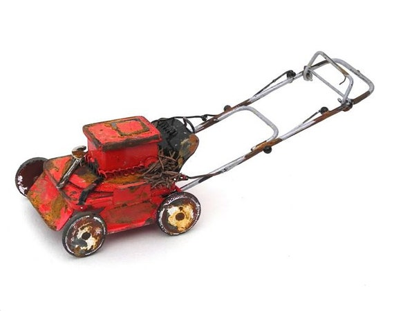 Ye Olde Lawn Mower for Miniature or Fairy Gardening, May Not Run