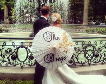 Damask or Fleur De Lis Parasol for your Wedding Photos