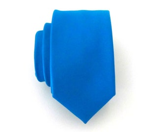 Skinny Tie. Blue Skinny Tie - Blue Skinny Necktie